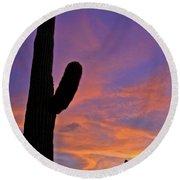 Phx July 2014 Sunsets 3 Round Beach Towel