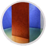 Physical Abstraction Round Beach Towel by Lynn Palmer