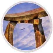Pi In The Sky Round Beach Towel by Paul Wear