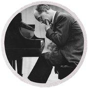 Pianist Rudolf Serkin Round Beach Towel