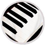 Piano Round Beach Towel