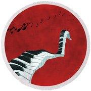 Piano Fun - S01at01 Round Beach Towel