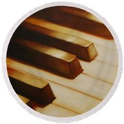 Piano Round Beach Towel