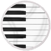 Piano Keys Phone Case Round Beach Towel