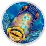 Picasso Triggerfish Round Beach Towel