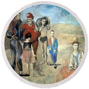 Picasso's Family Of Saltimbanques Round Beach Towel by Cora Wandel