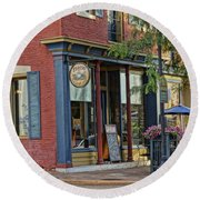 Picasso's N Main St Charles Mo Dsc00900  Round Beach Towel by Greg Kluempers