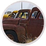 Pickup Cabs 2 Round Beach Towel