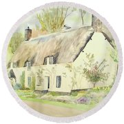 Picturesque Dunster Cottage Round Beach Towel