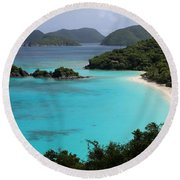 Piece Of Paradise Round Beach Towel