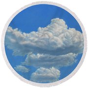 Piece Of Sky 3 Round Beach Towel