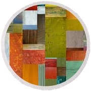 Pieces Parts Lll Round Beach Towel