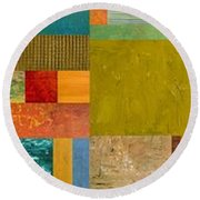 Pieces Project Lv Round Beach Towel by Michelle Calkins