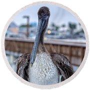 Pier Pelican Round Beach Towel
