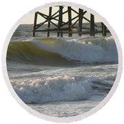 Pier Pressure Round Beach Towel