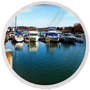Pier Pressure - Lake Norman Round Beach Towel