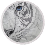 Piercing II Round Beach Towel by Mayhem Mediums