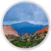 Pikes Peak Round Beach Towel