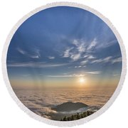 Pilchuck West 2 Round Beach Towel