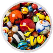 Pile Of Marbles Round Beach Towel
