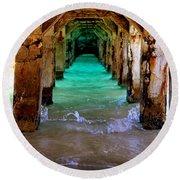 Pillars Of Time Round Beach Towel by Karen Wiles