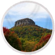 Pilot Mountain From 52 Round Beach Towel