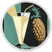 Pina Colada Round Beach Towel by Brian James