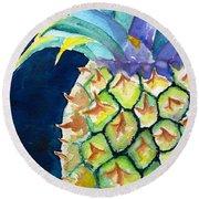 Pineapple Round Beach Towel by Carlin Blahnik