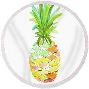 Pineapple I Round Beach Towel