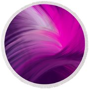 Pink And Purple Swirls Round Beach Towel