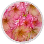 Round Beach Towel featuring the digital art Pink Blossom by Lilia D