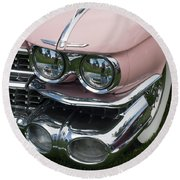 Round Beach Towel featuring the photograph Pink Caddy by Gunter Nezhoda