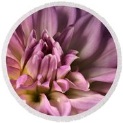 Pink Dahlia's Dream Round Beach Towel