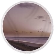 Pink Dawn Round Beach Towel