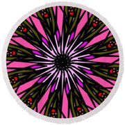 Round Beach Towel featuring the digital art Pink Explosion by Elizabeth McTaggart