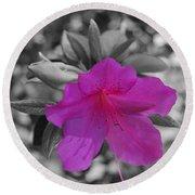 Pink Flower 2 Round Beach Towel