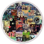 Pink Floyd Collage II Round Beach Towel