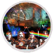 Pink Floyd Collage Round Beach Towel
