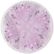 Pink Hibiscus Round Beach Towel by Victoria Harrington