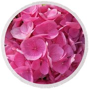 Round Beach Towel featuring the photograph Blushing Rose by Jeannie Rhode