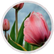 Pink Passion Round Beach Towel by Athena Mckinzie