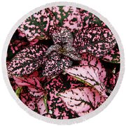 Pink - Plant - Petals Round Beach Towel