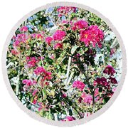 Round Beach Towel featuring the photograph Pink Profusion by Ellen O'Reilly