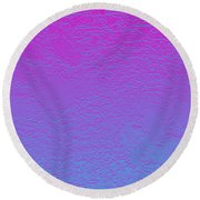 Pink Purple Blue Round Beach Towel