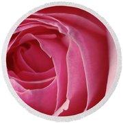 Pink Rose Dof Round Beach Towel