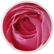 Pink Rose Dof Round Beach Towel