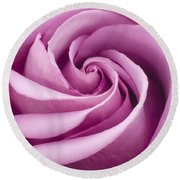 Pink Rose Folded To Perfection Round Beach Towel