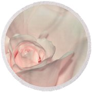 Pink Satin Round Beach Towel