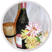 Pinot Noir Round Beach Towel