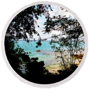 Picturesque Round Beach Towel by Amar Sheow